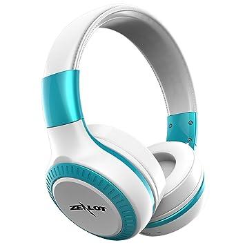 ZEALOT B20 Bluetooth auricular inalámbrico y ruido plegable de oído banda Sonido Estéreo 3.5 mm AUX 10 horas Batería para Apple ...