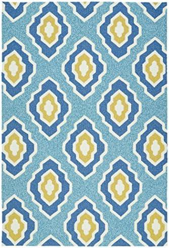Kaleen Rugs Escape Indoor Outdoor Rug, Blue, 8 x 10