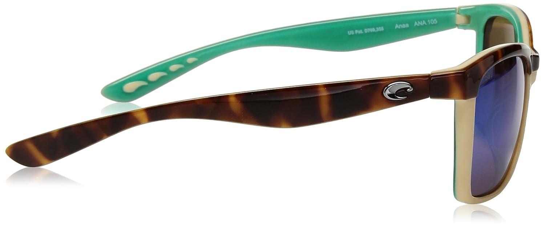 bf3d35073d8d8 Amazon.com  Costa Del Mar Anaa Sunglasses Shiny Retro Tort Cream Mint Green  Mirror 580Glass  Sports   Outdoors