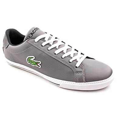 ca9457c9ee7 Lacoste Graduate Vulc CDN SPM Mens Gray Leather Sneakers Shoes Size ...