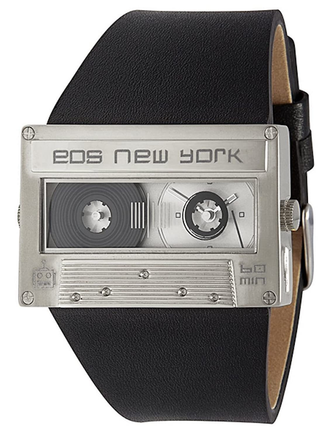 Eos New York Mixtape Watch silver - black Unisex Uhr im Kassettenlook Tape 302SBLKSIL