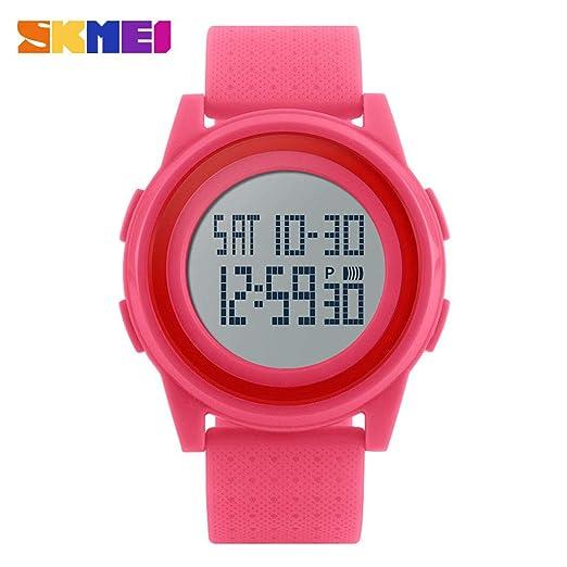 Rosepoem - Reloj Digital Relojes de Moda Semana Informal Fecha Fecha 12/24 Horas Estudiantes: Amazon.es: Relojes