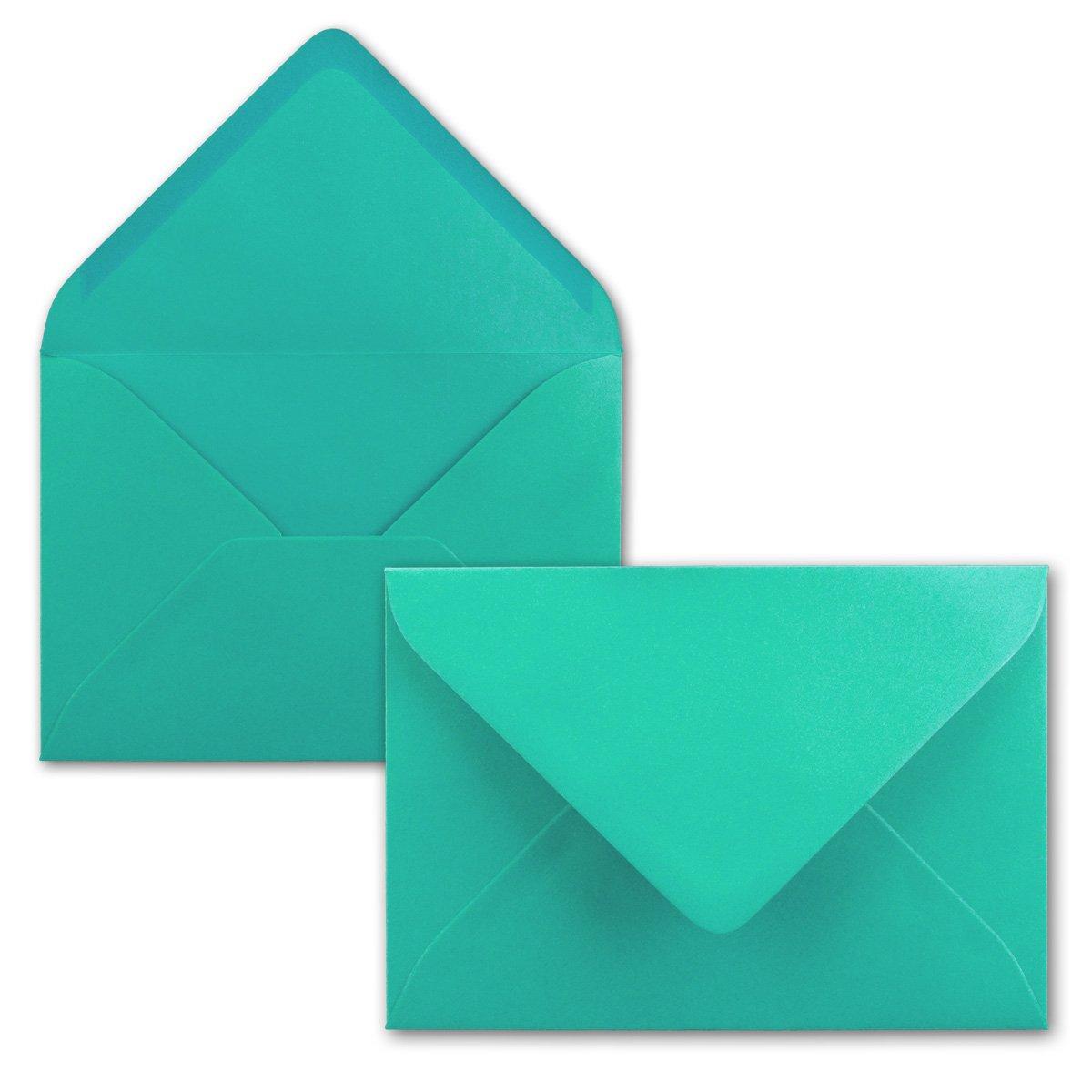 120 g//m/² 150x Briefumschl/äge B6 17,5 x 12,5 cm Einladungen Pazifikblau//T/ürkis Nassklebung mit spitzer Klappe F/ür Hochzeit Gru/ß-Karten