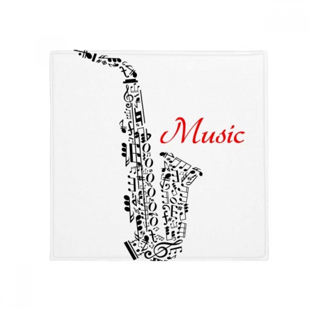 DIYthinker Sax Classical Music Listening Illustrate Anti-Slip Floor Pet Mat Square Home Kitchen Door 80Cm Gift