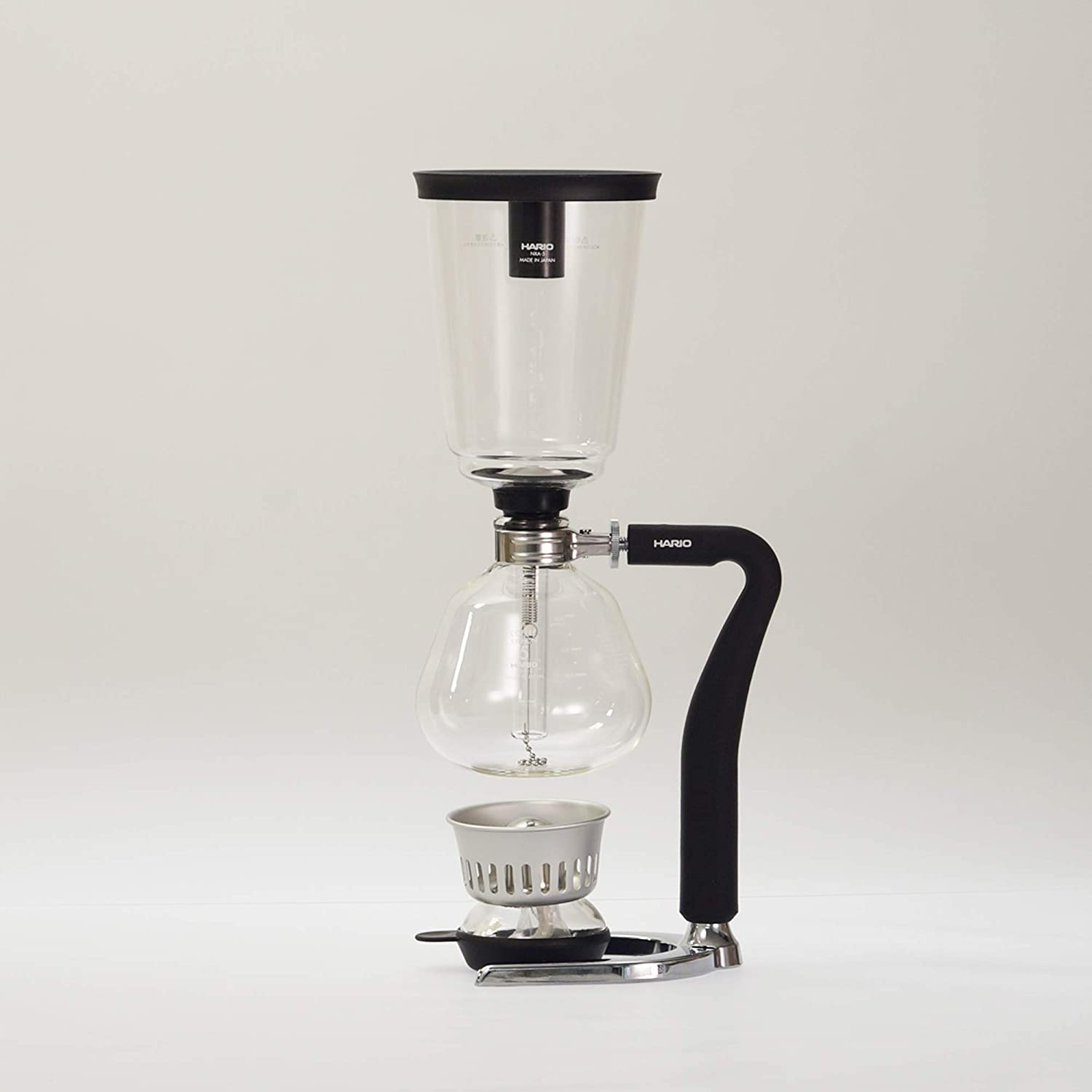 Hario NEXT Glass Syphon Coffee Maker with Silicone Handle, 5-Cup,