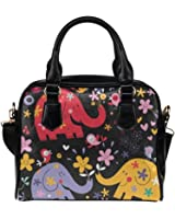 Angelinana Custom Women's Handbag Elephant 4 Fashion Shoulder Bag