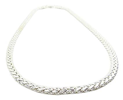 comprare popolare 38523 3aa8f Collana da uomo donna catena 5 mm platino catena argento di ...