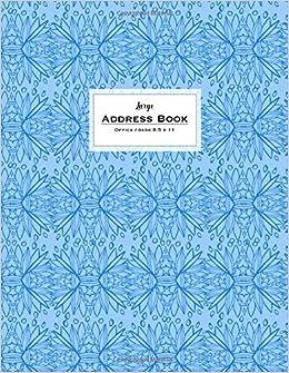Amazon.com: Large Address Book - Office/Desk 8.5 x 11: Sky ...