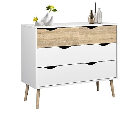 Credenza Con Piedi Alti : Relaxdays 10020981 credenza nordica buffet design con piedi