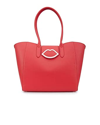 913c51641f7ad Lulu Guinness Cupids Bow Sofia Lips Leather Tote One Size SCARLET  Amazon.co .uk  Clothing