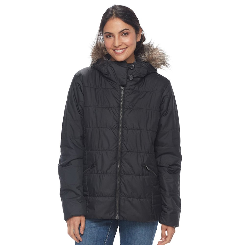 Columbia Women Sparks Lake Hooded Thermal Coil Jacket Black 3X