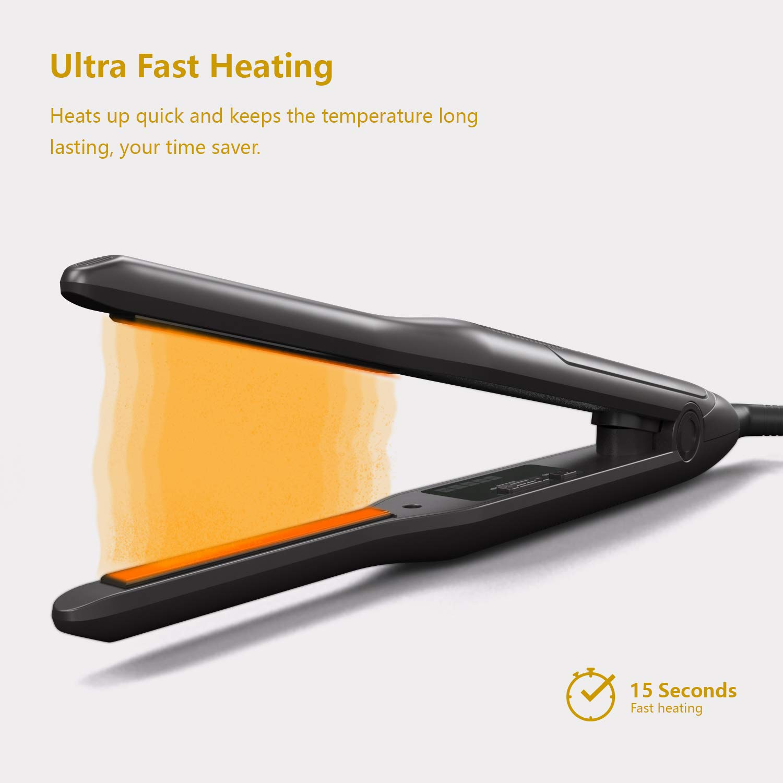 Pencil Flat Iron, 3/10 Inch Flat Iron Hair Straightener for Short Hair & Pixie Cut