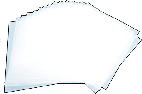 "5 Pack Mylar 7mil 12/"" x 12 Sheets Blank Stencil Make Laser AirBrush Cricut Hazy"