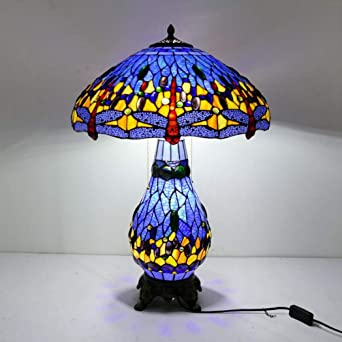 Tiffany Lamp Sea Blue Stained Glass and