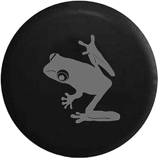Flag Tree Frog BUGEYE Rainforest Endangered Island Sea Turtle Jeep Spare Tire Cover OEM Vinyl Black 28-29 in