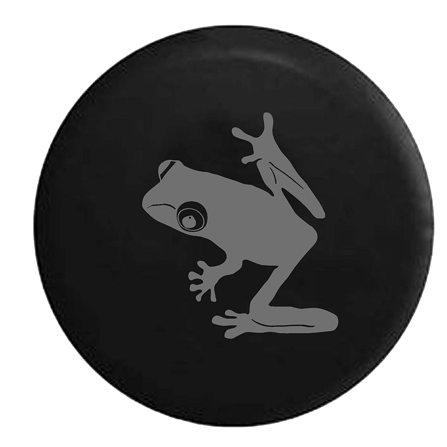 Tree Frog BUGEYE Rainforest Endangered Island Sea Turtle Jeep Spare Tire Cover Vinyl Black 31 in Camo