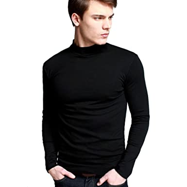 Men's Long Sleeve Turtleneck Undershirt Shirt at Amazon Men's ...