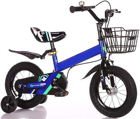 WYFDM Bicicleta Plegable, Bicicleta para niños, 3 años de Edad ...