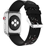 YaSpark Apple Watch Band 38/42mm, Special Pattern Printed Silicone Replacement Sports Bands Bracelet Strapfor Apple Watch 38/42mm Series 3 2 1 Version