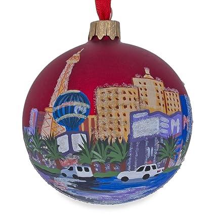 Image Unavailable - Amazon.com: BestPysanky Las Vegas Glass, Nevada Glass Ball Christmas