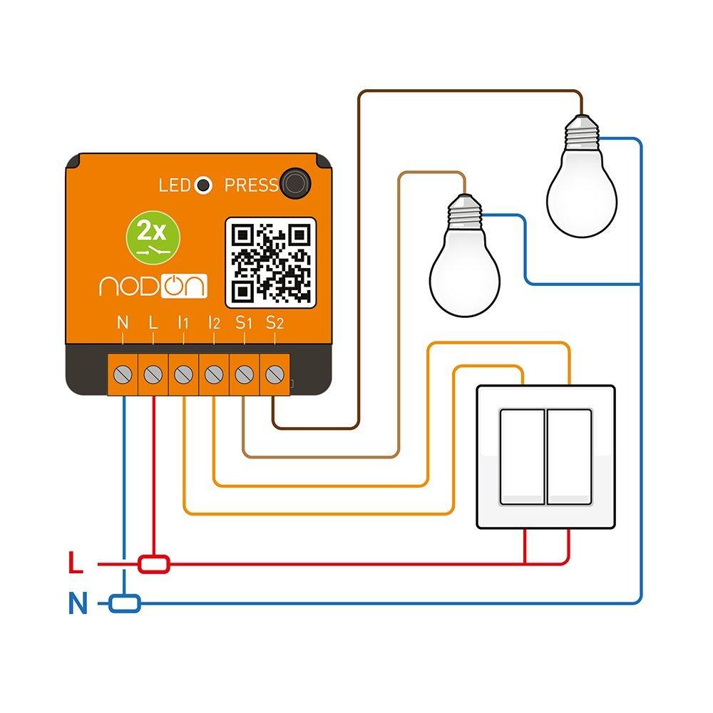 NodOn EnOcean Doppel Schalter SIN-2-2-00: Amazon.de: Beleuchtung