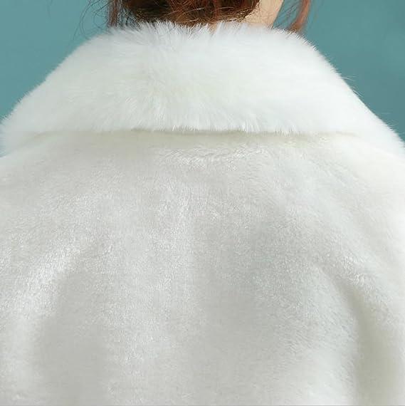 50702b9c023b17 JUNGEN 1 PCS Mariée Boléro Femme Veste Légère de Mariée Mariage Boléro  Paragraphe épaissie Blanc  Amazon.fr  Cuisine   Maison