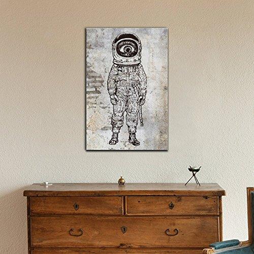 Amazement Astronaut Vector Illustration
