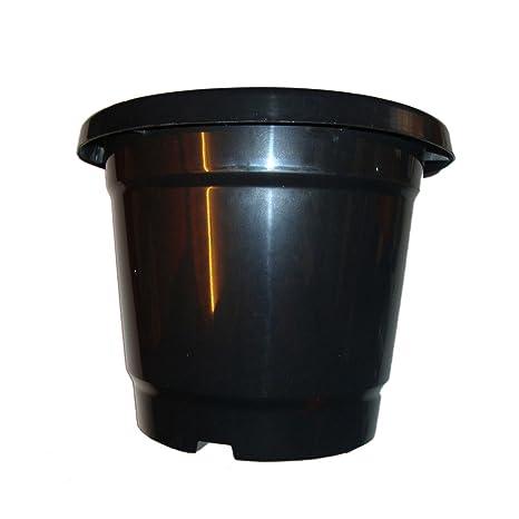 First Smart Deal 10 Inch Plastic Nursery Planter Pot Pack of 12 - Black