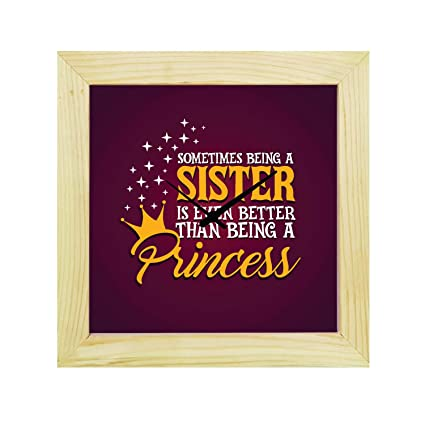 Buy YaYa CafeTM 6X6 Inches Birthday Gifts For Sister Desk Clock Princess Big Canvas Rakhi Online At Low Prices In India