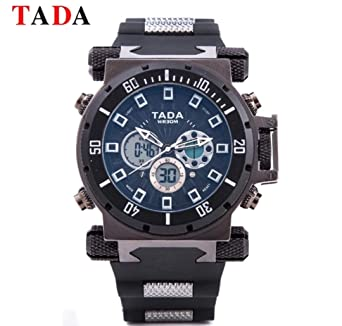 Mens Analog Digital Watch, Large Kidon Stainless Steel Slim, Men Watches, Mens Relojes