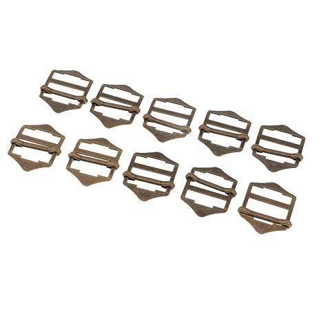 perfk 10pcs Hebillas Deslizantes Metálicas Ajustador Broche de Coser Botón para Costura de Cuero