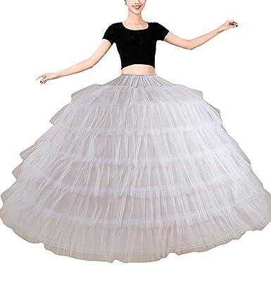 Bridal_Mall Damen 6 Ringe Unterrock Reifrock Petticoat Crinoline für ...