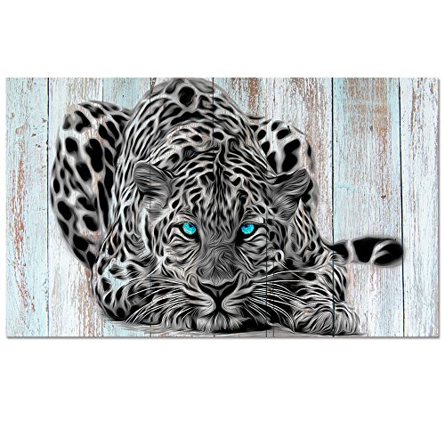 Abstract Black and White Animals Leopard Canvas Prints Wall Art Home Decor Large Leopard Painting Printed on Canvas Ready to Hang (24