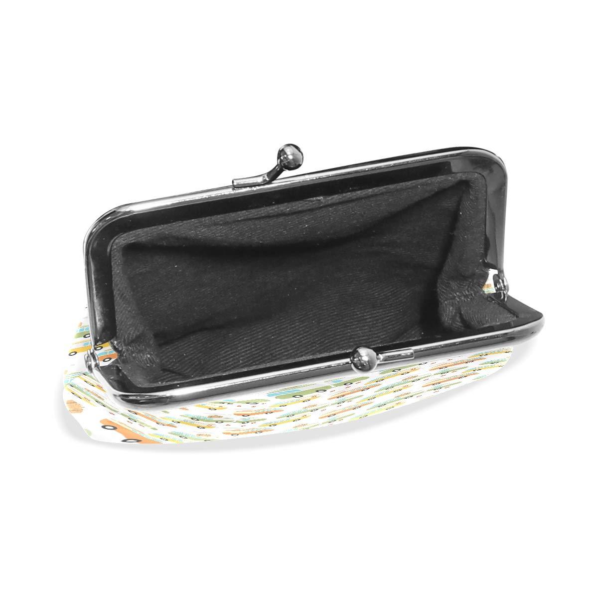 LALATOP Hippie Bus1 Womens Coin Pouch Purse wallet Card Holder Clutch Handbag