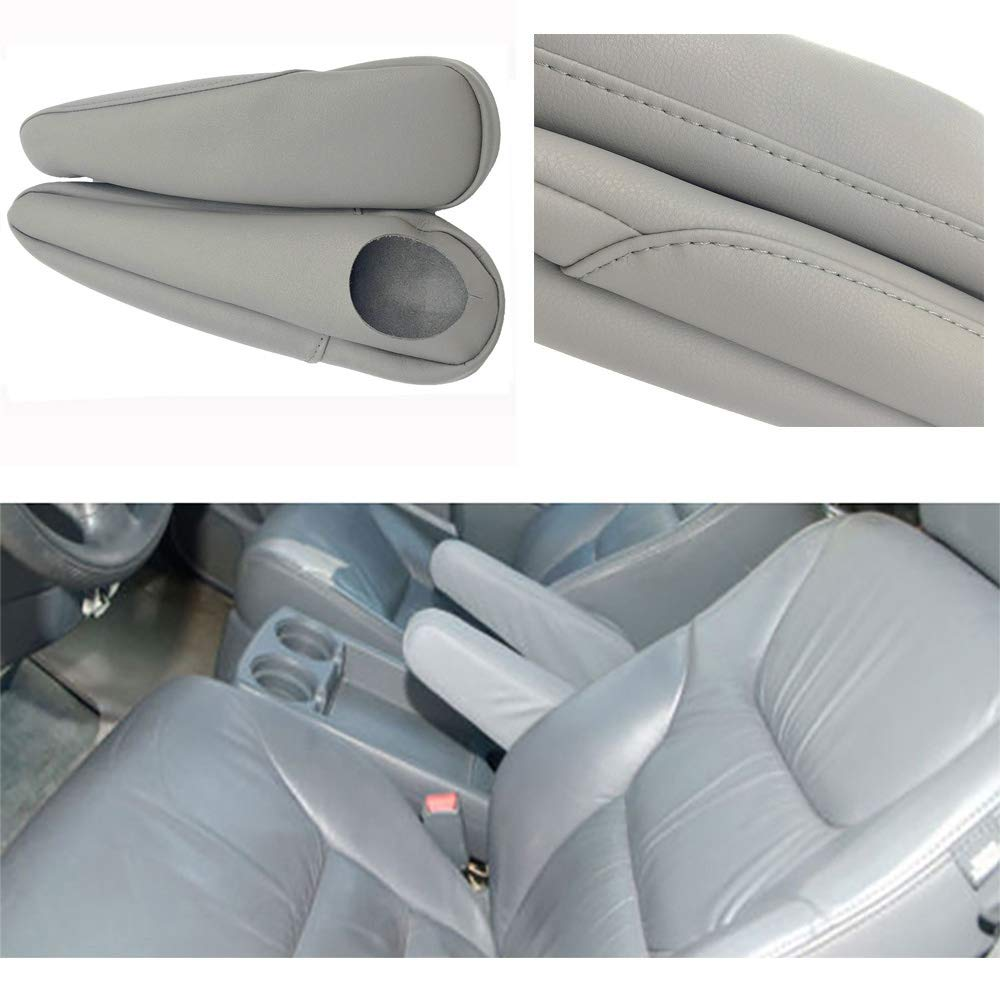 Fits 2005-2010 Honda Odyssey Real Gray Leather Seat Armrest Covers Leather Part Only