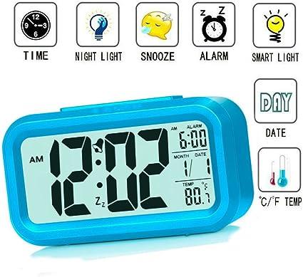 Reloj despertador inteligente Luz velada, para niños, adolescentes ...