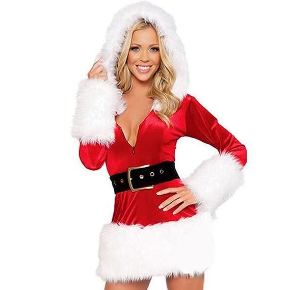 BOZEVON Señoras Encapuchados Santa Sexy Navidad Navidad Miss ...