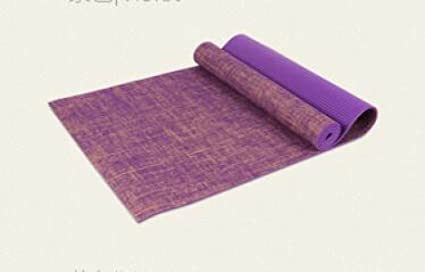 Amazon.com: ZHANGHAOBO Yoga Mat Linen PVC Attached Linen ...
