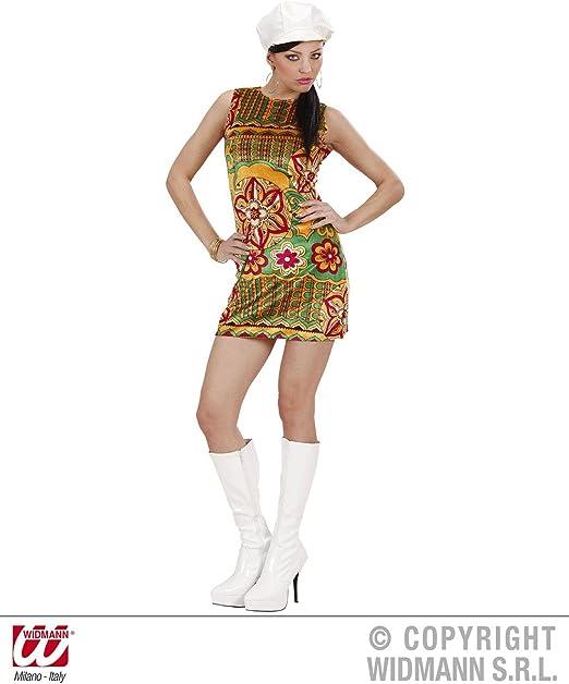Disfraz de chica Moderna Psicodelica años 60 adulto Carnaval ...