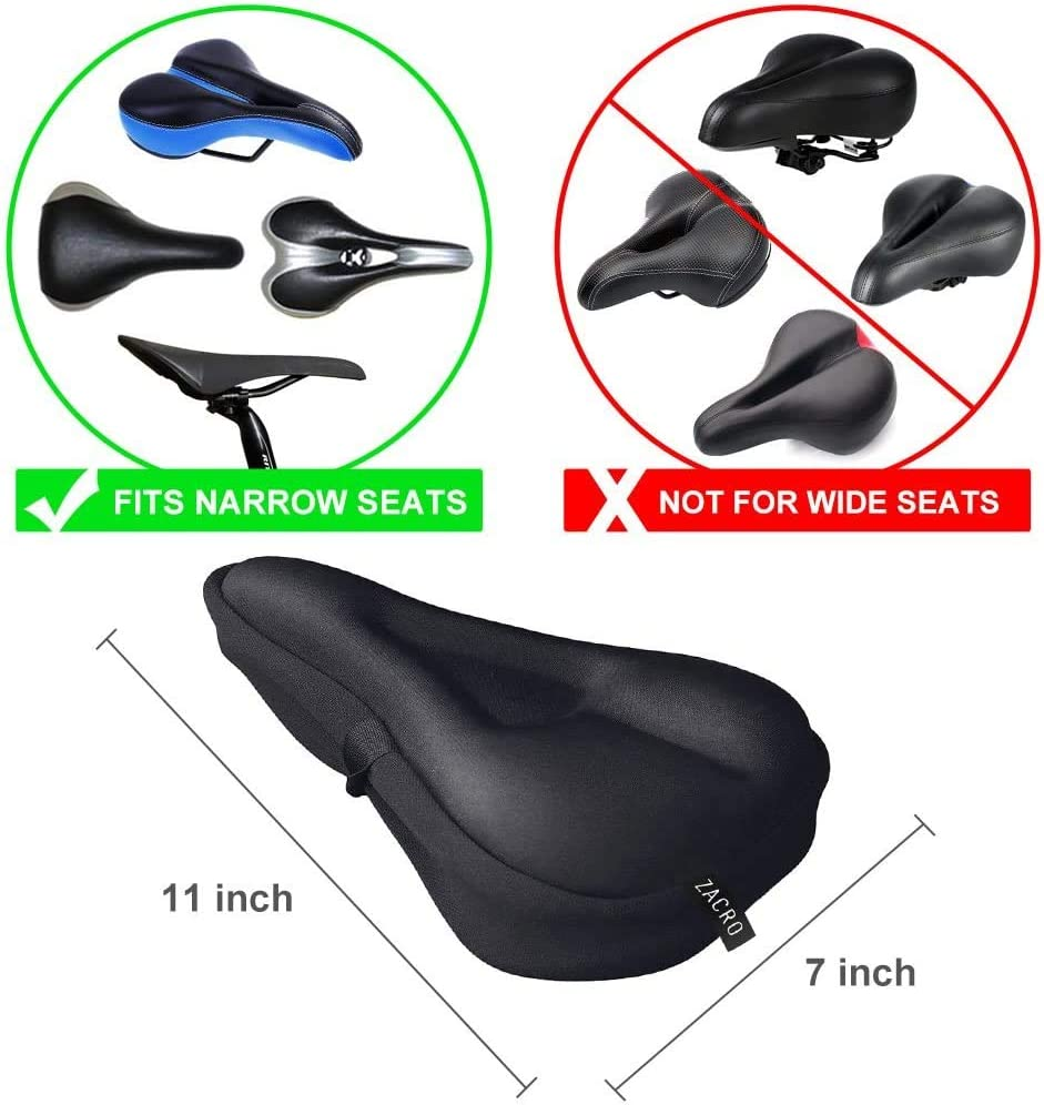asiento de bicicleta de gel extra suave con funda resistente al agua y al polvo Funda de gel para asiento de bicicleta