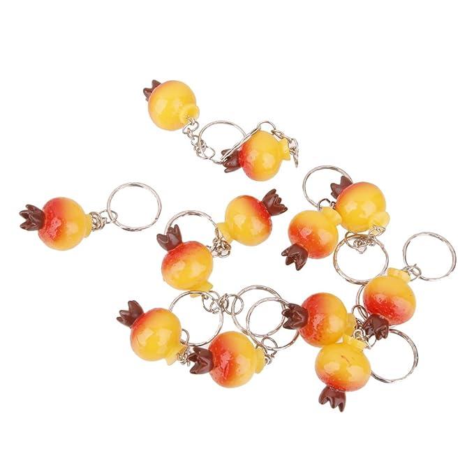 dovewill - Granada frutas colgantes clave cadena llavero ...