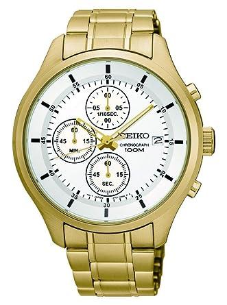 Reloj Seiko Caballero SKS544P1 Color Acero con Dorado