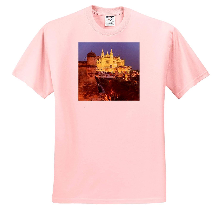 - Adult T-Shirt XL 3dRose Danita Delimont Spain La Seu Mallorca Palma de Mallorca Spain Gothic Cathedral ts/_313868