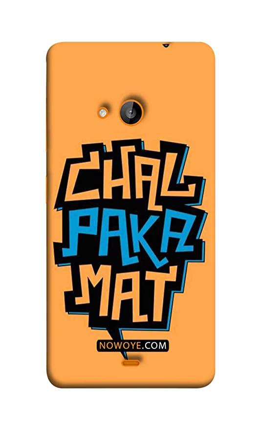 the best attitude 71b85 cb8c8 Now Oye Lumia 730 - Chal Paka Mat Mobile Cover: Amazon.in: Electronics