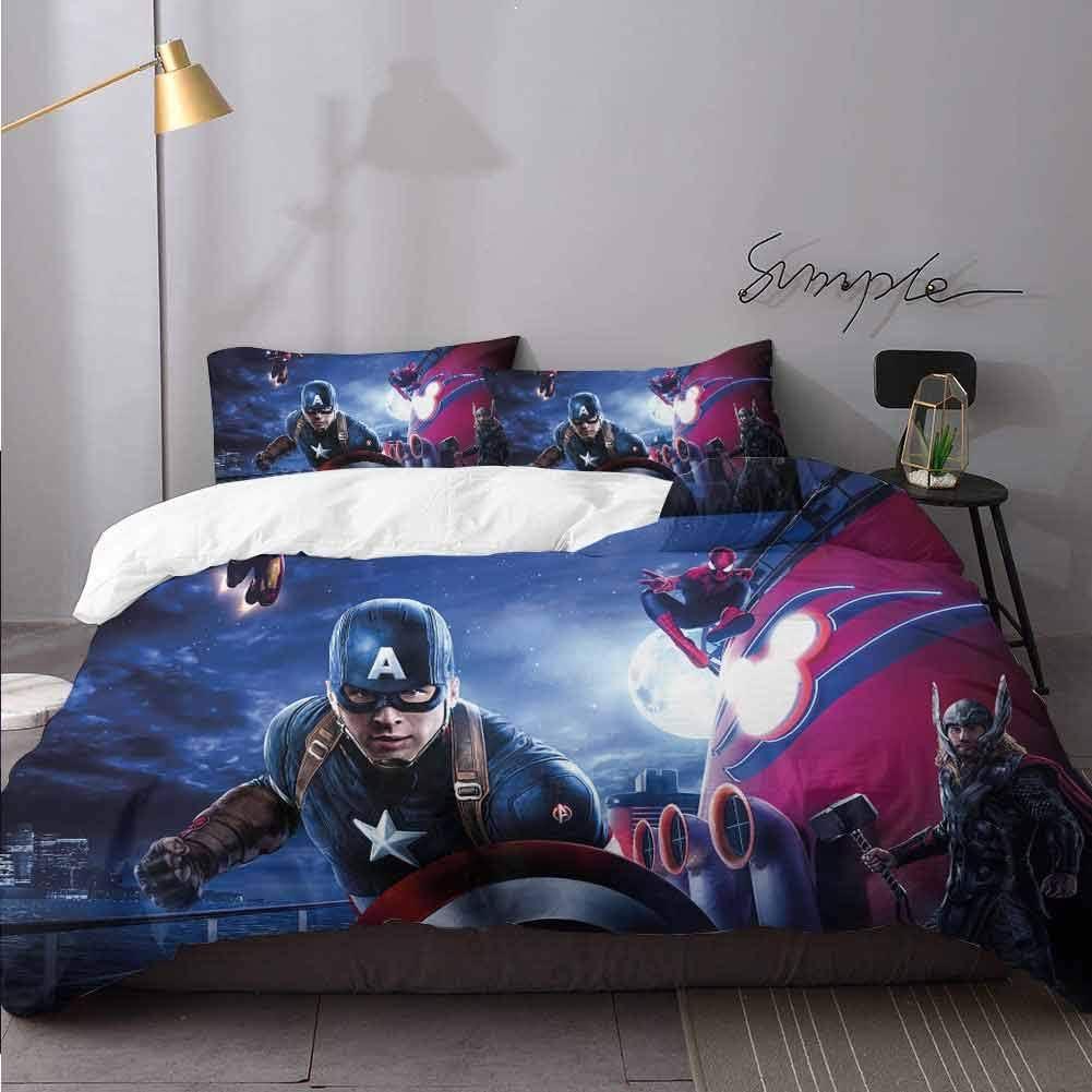 Captain America 3 Piece Duvet Cover Set