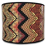Royal Designs Modern Trendy Decorative Handmade Lamp Shade - Made in USA - Multi-Colored African Style Chevron Design - 10 x 10 x 8
