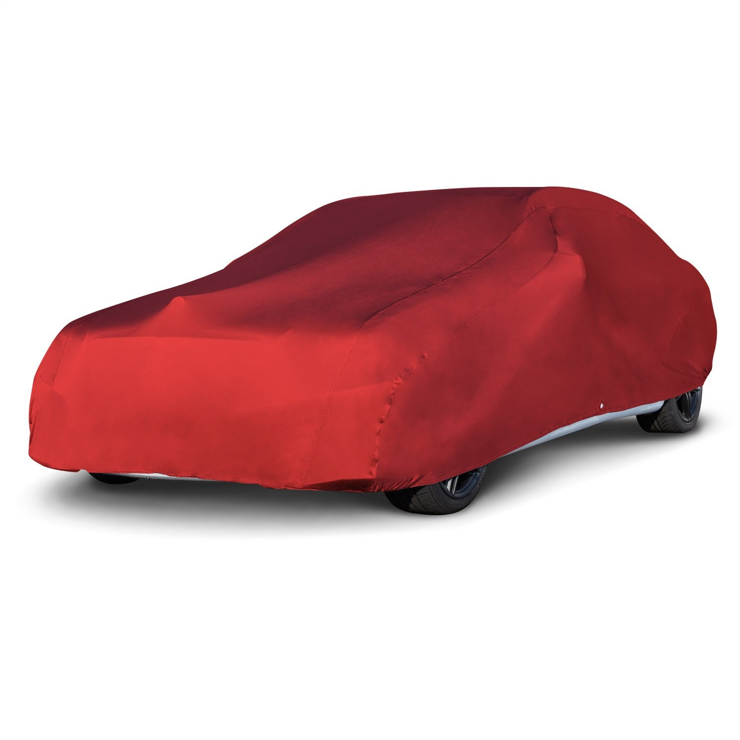 "Budge RSC-3 Red Car fits Cars up to 200"" Car Cover, Luxury Indoor Protection, Soft Inner Lining, Breathable, Dustproof"