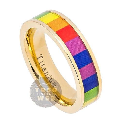 Amazon.com: Anillo de boda unisex de 0.236 in de oro ...
