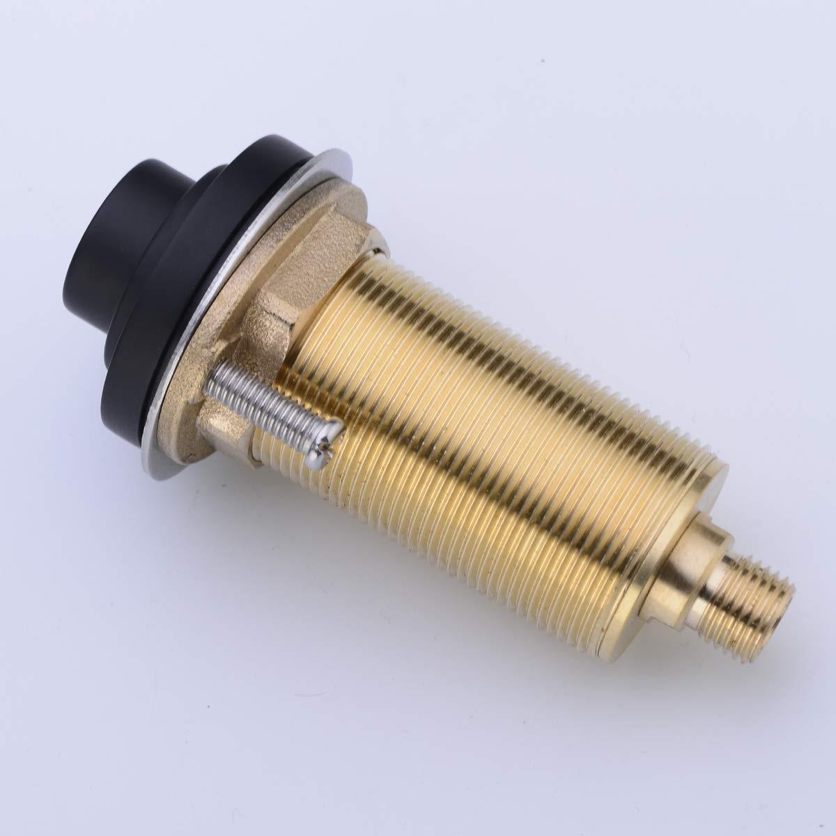 SINKINGDOM SinkTop Air Switch Kit (Full Brass) for Garbage Disposal, Cordless (Matte Black) by SINKINGDOM (Image #3)