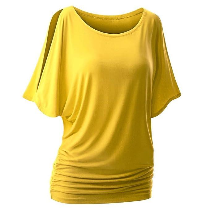 iBaste Damen Oberteil Festlich T-Shirts Bluse Elegant Shirt Kurzarm Große  Größen  Amazon.de  Bekleidung 55efd847eb